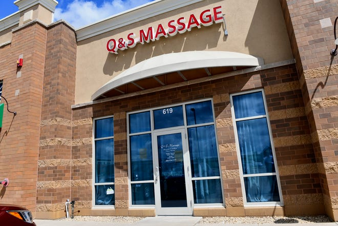 Q & S Massage at 619 2nd St. S is pictured Tuesday, June 18, in Waite Park. The Waite Park City Council approved revoking the license for the business Monday night.