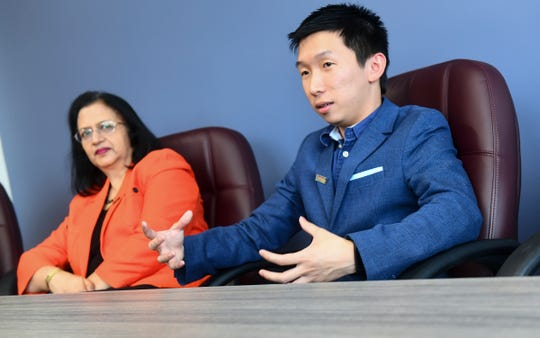 Jonathan Wong talks about his experiences in the Jugaad Leadership Program Friday, June 14, in St. Cloud.