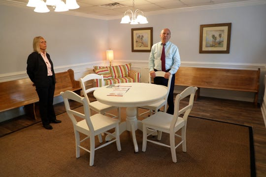 The Young Fulford Cremation and Funeral Services facility includes a gathering room where families and loved ones can come together for memorial services.