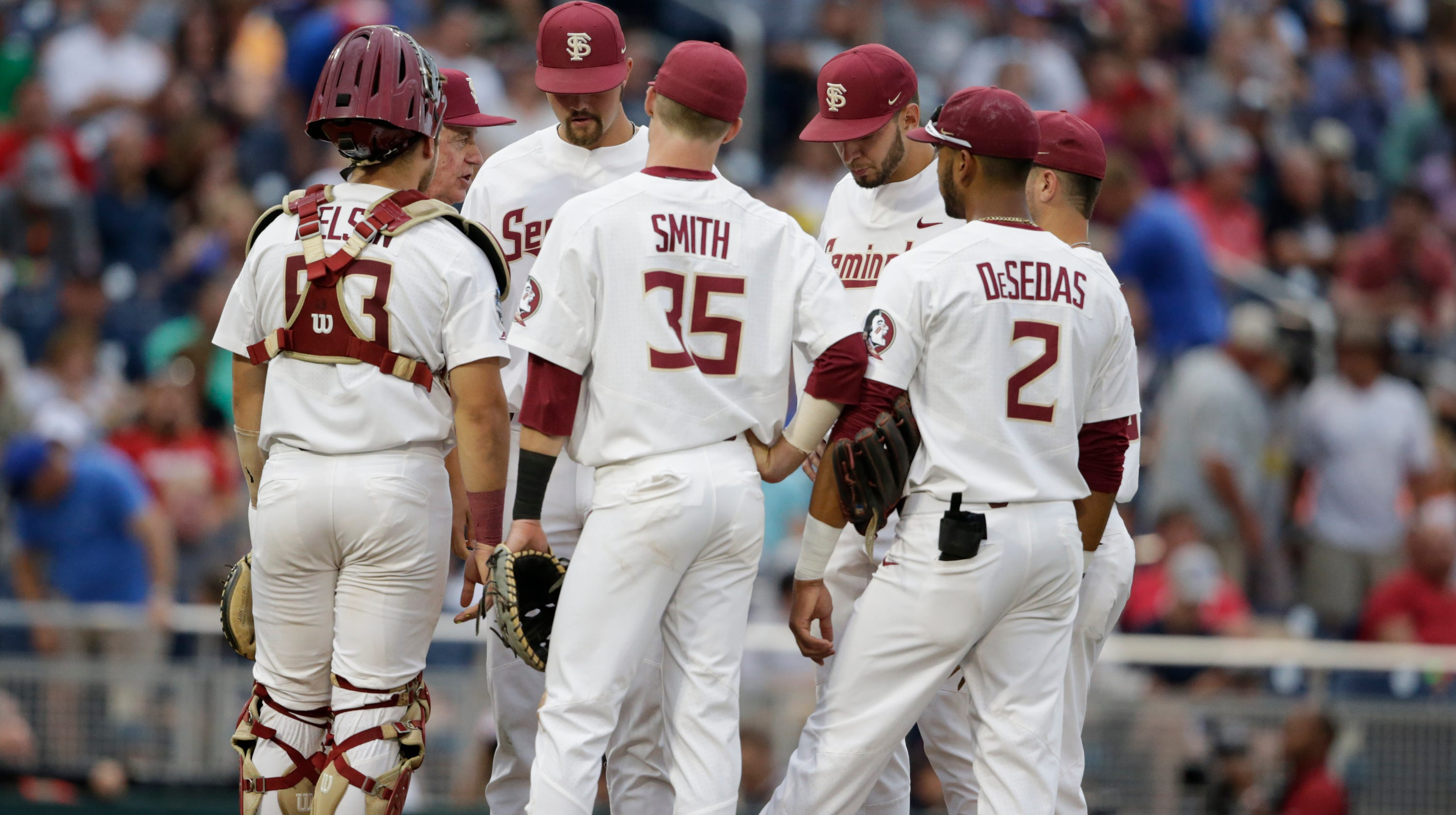 new concept a7aa4 5fa88 Florida State shut out by Michigan in College World Series
