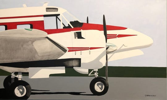 "Michael Brennan's ""Beech 18,"" part of the Live Auction for Big Bend Cares on Saturday."