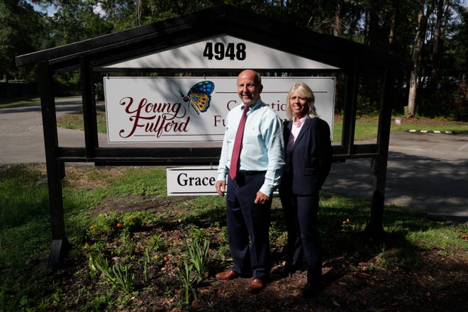 Skip Young, left and Jackie Fulford own Young Fulford Cremation and Funeral Services. Young owns another funeral home in Crawfordville and Fulford is a former circuit judge.