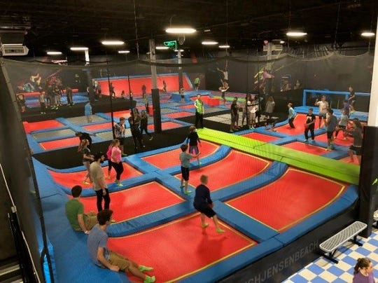 The Jump with Superheroes event at RUSH Jensen Beach Extreme Trampoline Park is 11:30 a.m. to 1:30 p.m. Sunday.