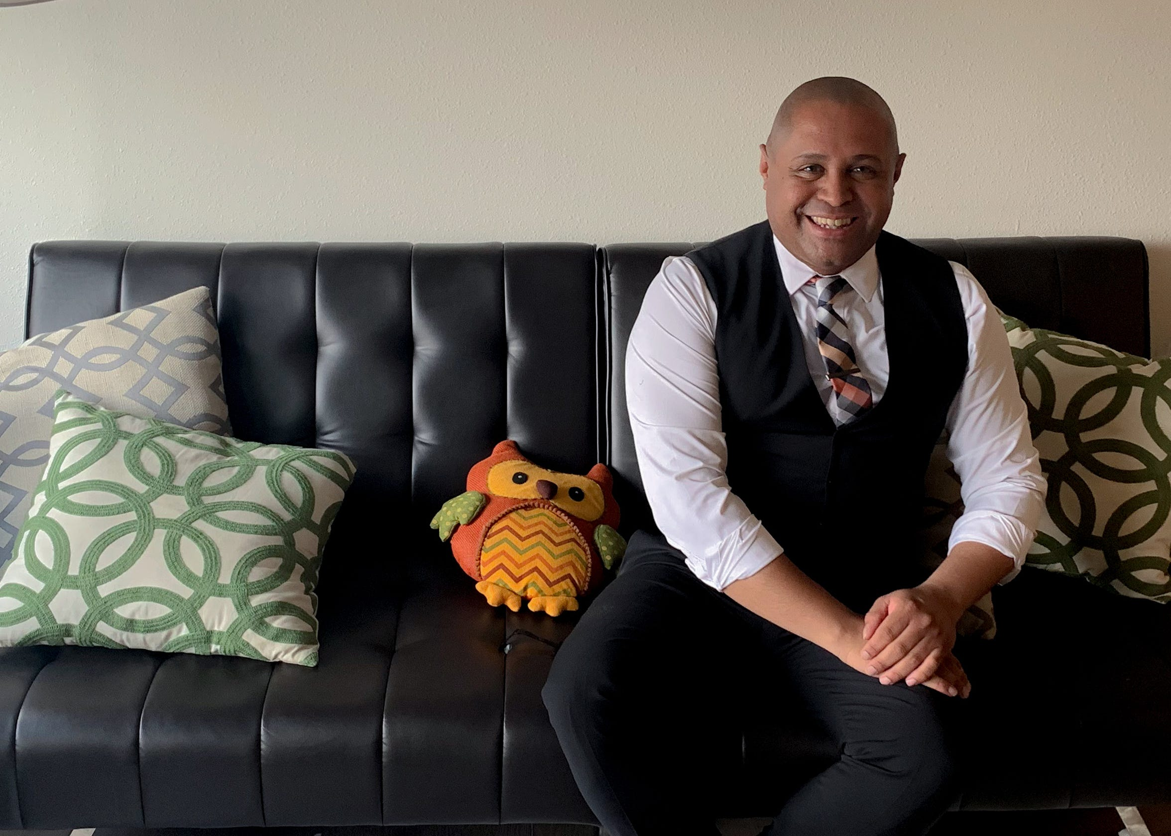 Sun City Pride Parade Grand Marshal Antonio Williams is an immigration lawyer who does free work for transgender immigrants. He sits at his El Paso home June, 13, 2019.