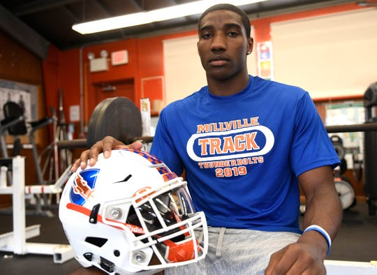 Millville High School football standout Solomon DeShields recently committed to the University of Pittsburgh. DeShields talks with The Daily Journal in the school gym on Tuesday, June 18, 2019.