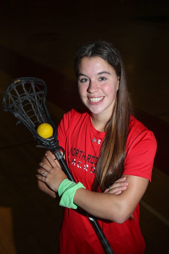 North Rockland's Kerri Gutenberger, is selected as the Rockland girls lacrosse player of the yesr.  Gutenberger was photographed at North Rockland High School in Thiells on Tuesday, June 18, 2019.