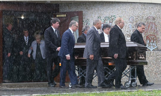 The funeral for Judge James Reitz at Saint James Church in Carmel for his funeral mass June 18,  2019.