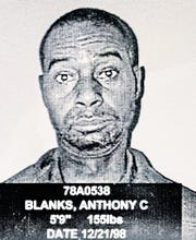 Anthony Curtis Blanks in a 1998 NYS Department of Corrections photo. Blanks has been in prison since his conviction since 1978 following his conviction in the slaying of Larchmont police Officer Arthur DeMatte on  October 12, 1976.
