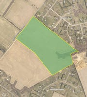 A little less than 100 acres of county land has been dedicated to a new park in Middletown. Marked out is the plot of land for the park.