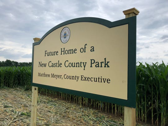 New Castle County officials announced Tuesday afternoon the location of a new park in Middletown. The park will be located at this cornfield on Shallcross Lake Road.