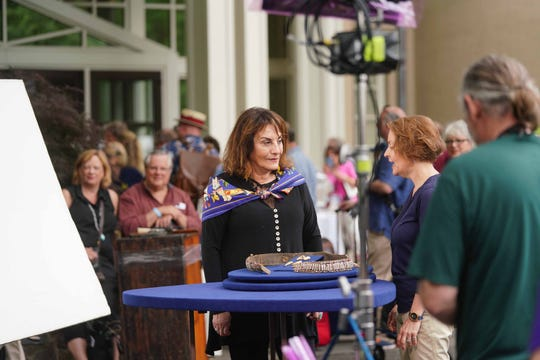 """The """"Antiques Roadshow"""" made a stop at Winterthur Museum to film a show for Season 24 on Tuesday, June 18, 2019. More than 3,000 ticket holders were able to bring two items for top appraisers to assess then learn the potential history and value of the items. Guest that had possible treasures with a value got a chance for make-up, lights and a spot on the show."""