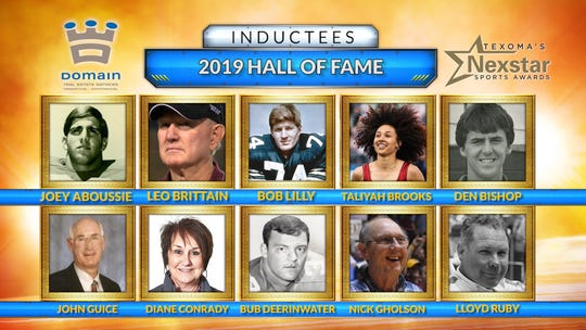 Here's a look at the first 10 Hall of Fame inductees for the Texoma Hall of Fame.