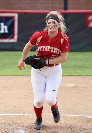 Following her college career at Otterbein University, Sheridan High School graduate Gabby Johnson has signed to pitch for the Moh-BEEL! USA team of the American Softball Association.