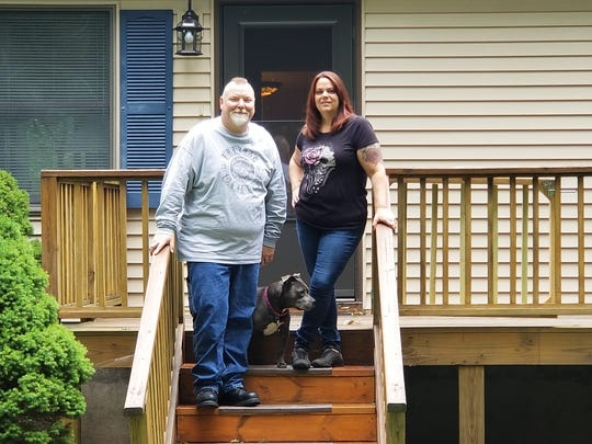 Michelle and Michael Phillips. They struggled during the Great Recession and filed for bankruptcy in 2012.  Now, they are financially stable but living a more modest life.