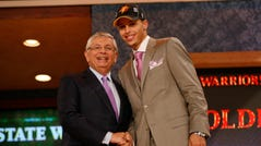 Stephen Curry is drafted by Golden State.