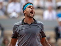 Soccer 'game' breaks out during Jo-Wilfried Tsonga-Benoit Paire ATP match at Halle Open