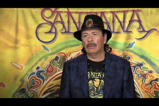 Carlos Santana talks about Santana's new album and the 50th anniversary of Woodstock. (June 18)