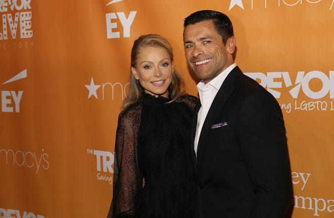 Kelly Ripa and Mark Consuelos at The Trevor Project's TrevorLIVE New York gala June 17, 2019, in New York.