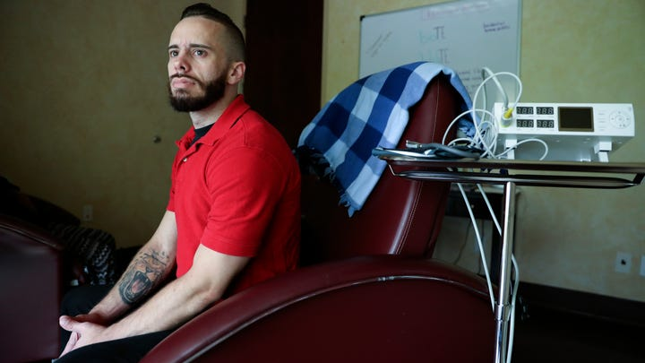 Cystic fibrosis patient Garrett Greene, of Coconut Creek. Fla. had been prescribed percocet, a pain medication containing a combination of acetaminophen and oxycodone. This spring his former pain management doctor dropped him suddenly leading to what he said was horrible withdrawal.