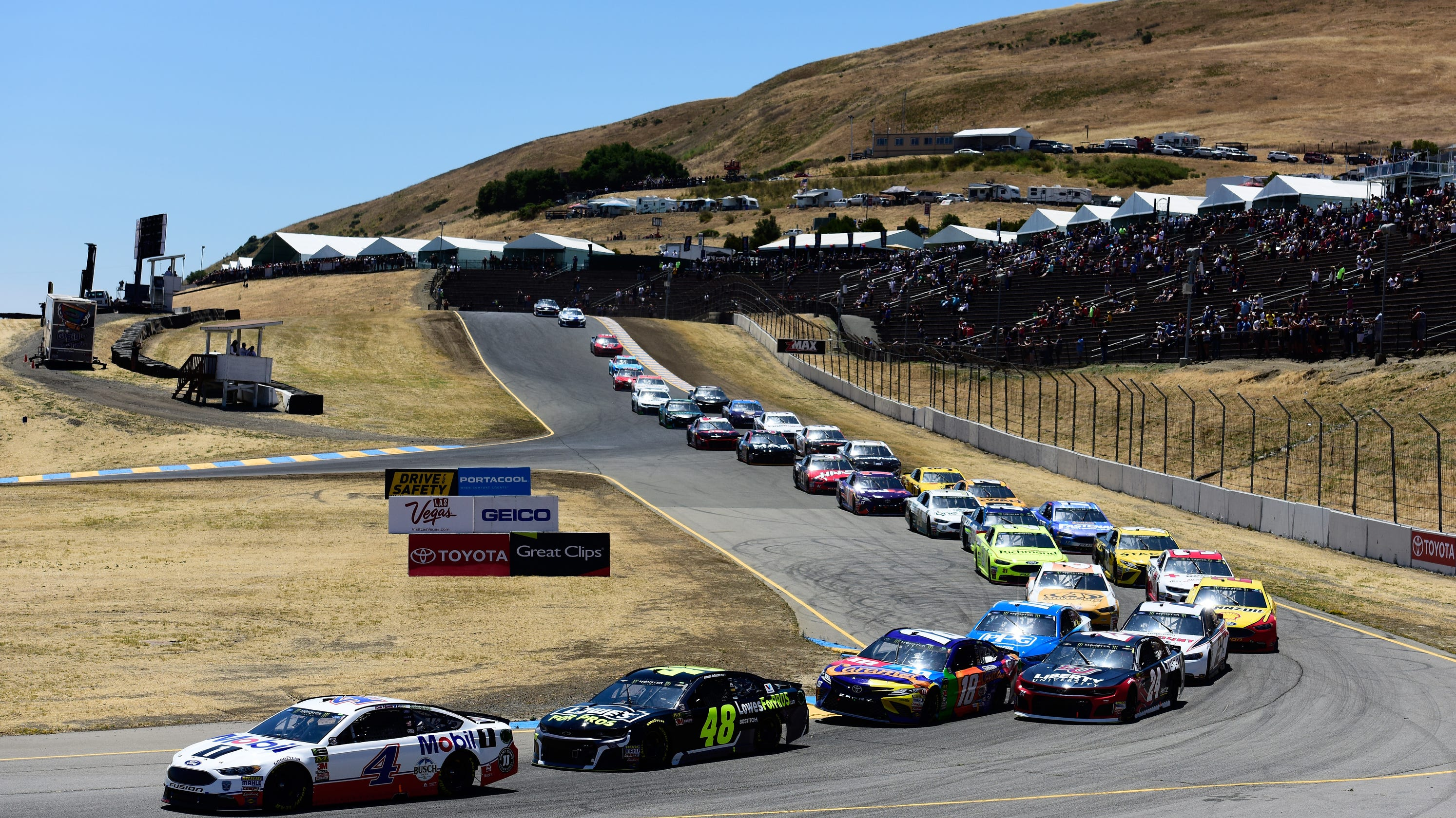 NASCAR at Sonoma: Longer course, more turns will test drivers' skill