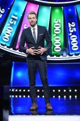 "Dax Shepard, 44, hosts Fox's new ""Spin the Wheel."""