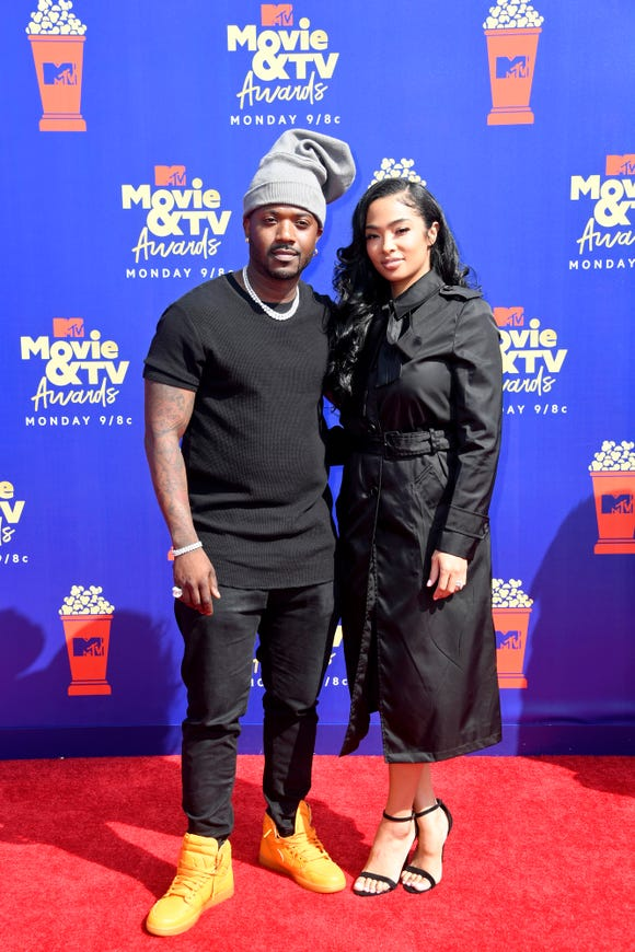 Ray J and Princess Love attend the 2019 MTV Movie & TV Awards at Barker Hangar.