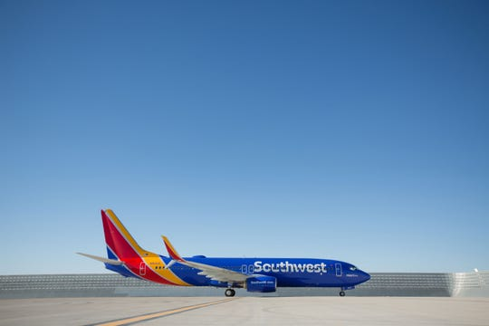 Southwest Airlines unveiled its latest look, featuring a heart on the belly of the plane, in 2014.