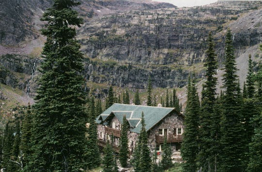 Glacier National Park's Sperry Chalet, seen here in 1997, was completely gutted by an August 2017 wildfire. The National Park Service hopes to have it rebuilt by this October.