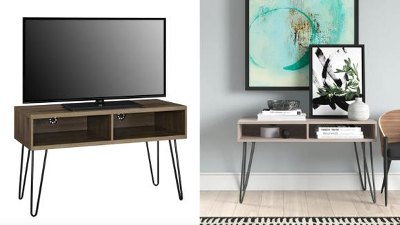 This stand is great for crammed spaces and small TVs.