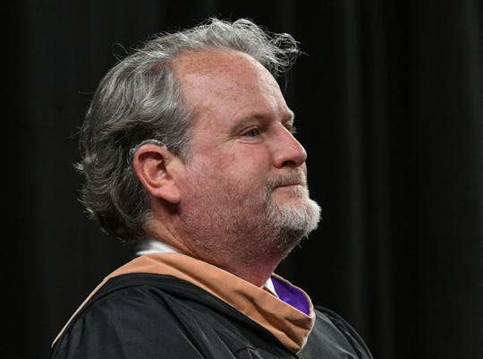 Anderson School District 2 board member Kevin Craft attends the Belton-Honea Path High School graduation in Littlejohn Coliseum in Clemson in May.