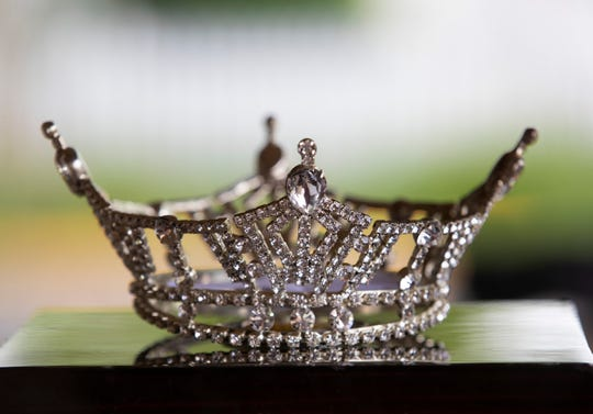 Miss New Jersey 2019 Jade Glab's tiara at her home in Belmar NJ on June 19, 2019.