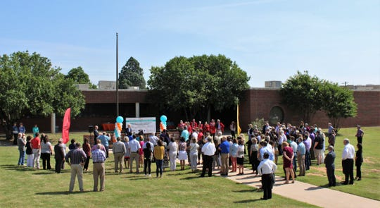 Those attending Day Nursery of Abilene's announcement Wednesday at the former College Heights Elementary School, braved sun and wind to applaud the expansion project that adds a fourth location. It is located near the Hendrick Medical Center and Hardin-Simmons University campuses.