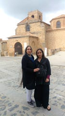Elizabeth and Harley Flores in Agreda, Spain, where Harley was baptized.