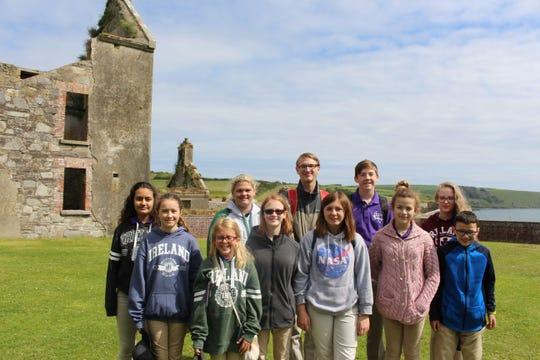 Chorus Abilene singers visit Charles Fort in Kinsale, Ireland.