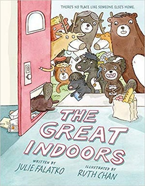 """""""The Great Indoors"""" by Julie Falatko and illustrated by Ruth Chan."""