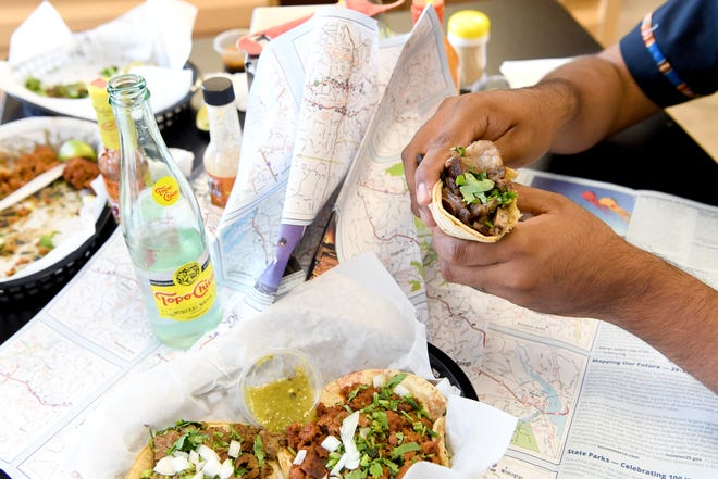 Luis Martinez, a graphic designer and marketing and tech professional, has created Taco Map AVL, a map of the best authentic taquerias in Asheville. Pictured are tacos that can be found at Los Nenes Bakery.