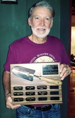 Tom Woerz took home this year's Willie Headley Award from the Black Mountain Beautification Committee on June 8.