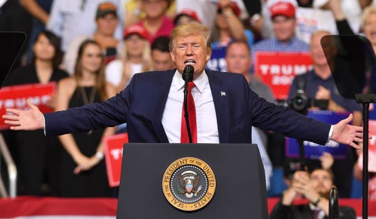 President Trump officially announces his 2020 reelection bid at a rally at the Amway Center in Orlando.