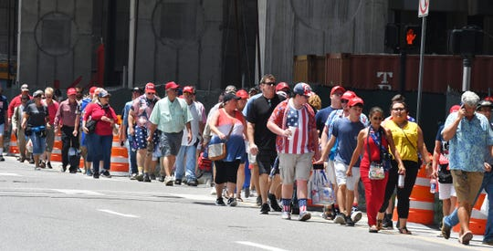 Huge crowds turned out for President Trump's official campaign for re-election kickoff at the Amway Center in Orlando, June 18th.