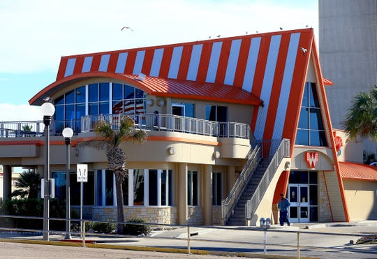 Whataburger on the Bay on Shoreline Boulevard in Corpus Christi, Texas has two stories with a view of the bay.