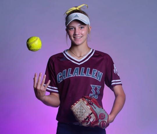 Calallen's Raegan Tennill is the All-South Texas Softball Newcomer of the Year, as seen here photographed Wednesday, June 19, 2019, at the Corpus Christi Caller-Times.