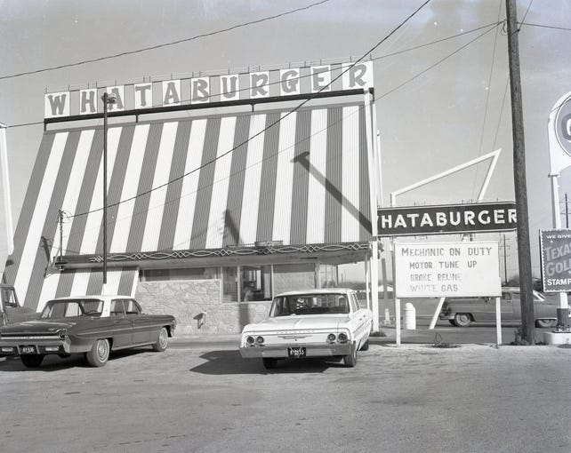 Whataburger in Corpus Christi in 1964.
