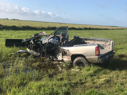 Two people died in a crash just north of Holiday Beach in Aransas County on June 19, 2019, according to DPS.
