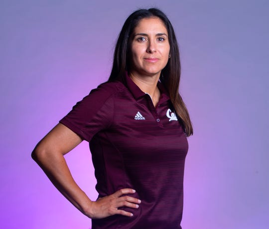 Calallen's Teresa Lentz is the All-South Texas Softball Coach of the Year, as seen here photographed Wednesday, June 19, 2019, at the Corpus Christi Caller-Times.