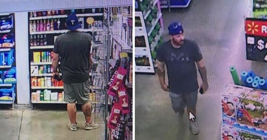 The Aransas Pass Police released photos of a man who allegedly exposed himself to women inside Walmart on June 18, 2019.
