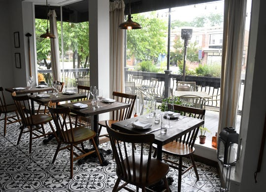 Interior of the Porch & Proper restaurant in Collingswood located at 619 West Collings Avenue.
