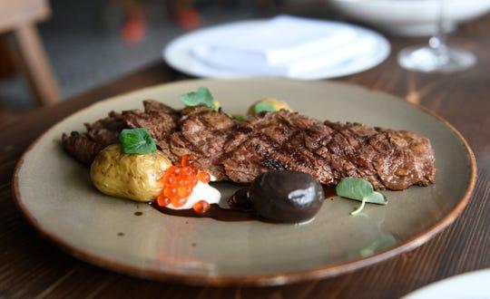Steak Bavette served at the Porch & Proper restaurant in Collingswood.