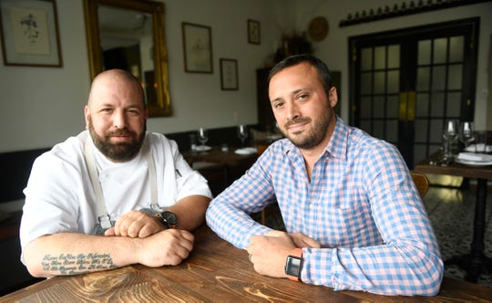 Executive Chef Anthony Marini, left, and Jason Simkins, owner of the Porch & Proper restaurant in Collingswood.