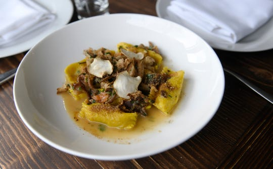 Sun Choke Agnolotti served at the Porch & Proper restaurant in Collingswood.