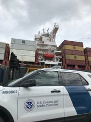 William McSwain, U.S. Attorney for the Eastern District of Pennsylvania, posted this photo of the MSC Gayane in a tweet. Local, state and federal authorities boarded the ship at the Port of Phiadelphia Tuesday during an investigation into a record 16-ton-plus cocaine seizure.